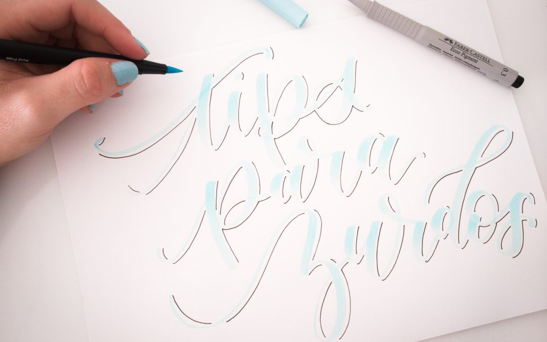 Ser zurdo no es un impedimento para hacer Lettering