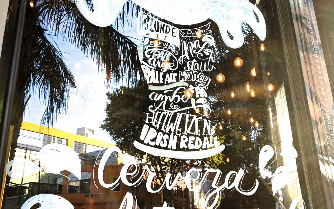 Window Lettering Cervezas Artesanal