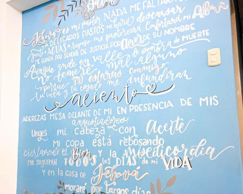 Salmo 23 mural